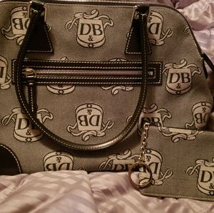 Large Domed Dooney & Bourke Coated Cotton Satchel
